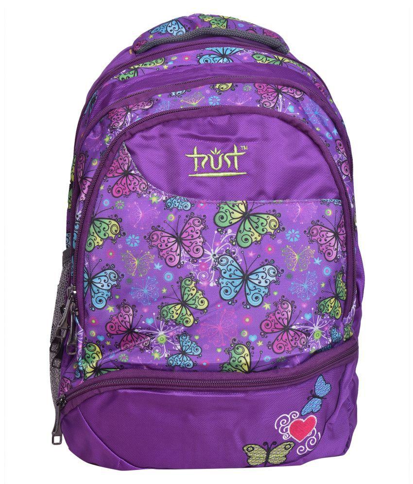 Trust Purple Polyester College Bag