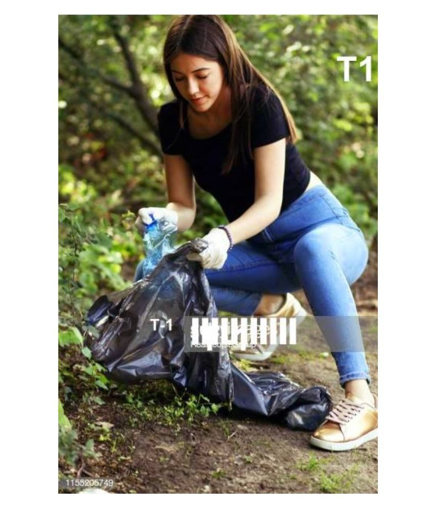 GARBAGE BAGS  Garbage Bag Dustbin Bag Black Size 25*30 LARGE Compostable/Biodegradable Garbage/Trash/Dustbin Bag For Home/Office/Industries & Many Multi Purposes (150 Pieces) (Pack of 10)