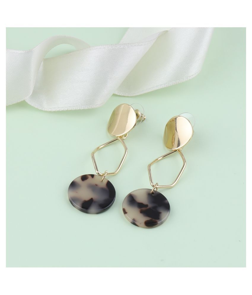 SILVER SHINE Exclusive Gold Plated Charm Party Wear Dangle Earring For Women Girl