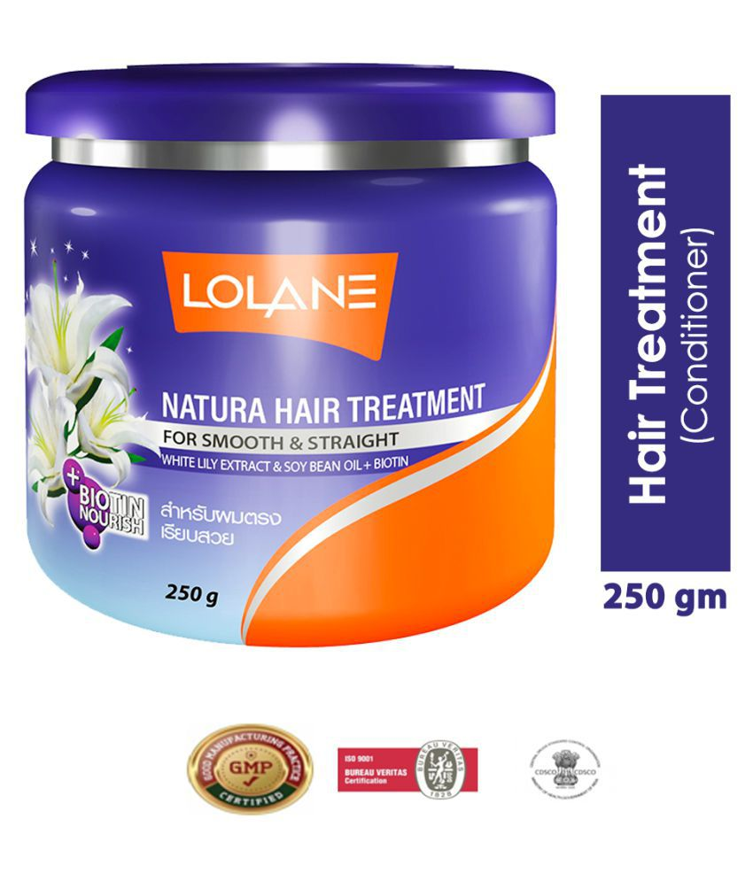 Lolane Natura Hair Treatment Condtioner For Smooth & Straight With White Lily Extract 250g