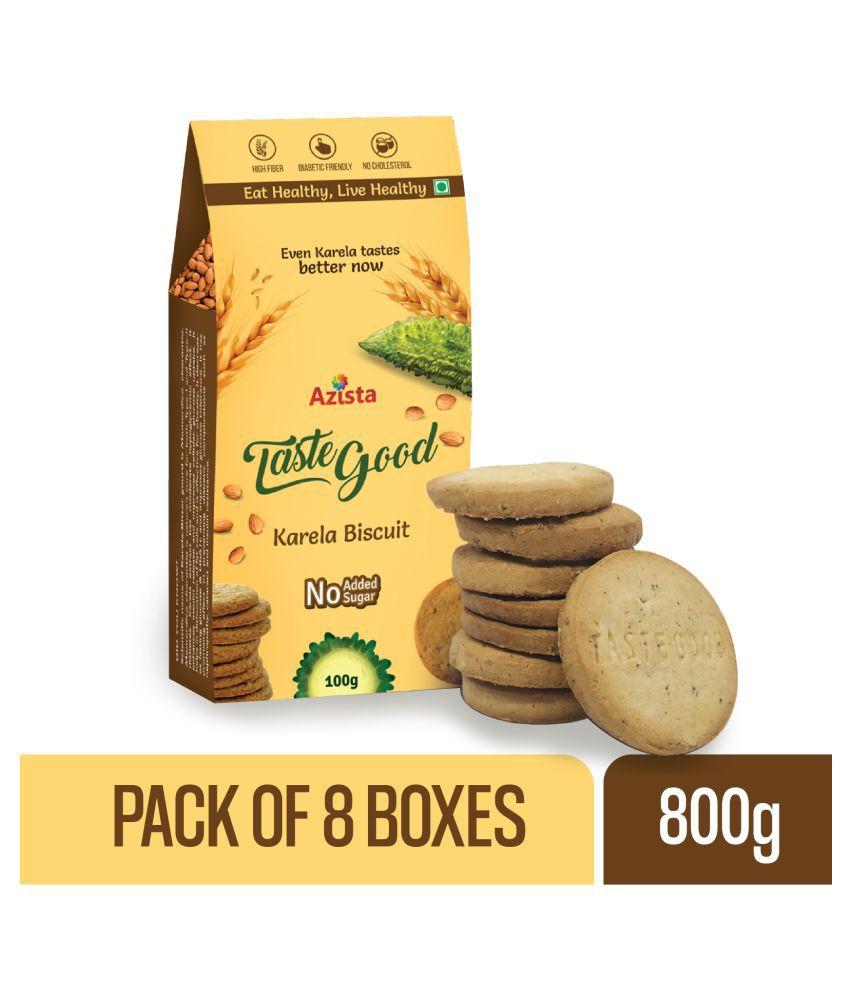 TasteGood Karela Digestives & Low Calorie Biscuits 100 gm Pack of 8