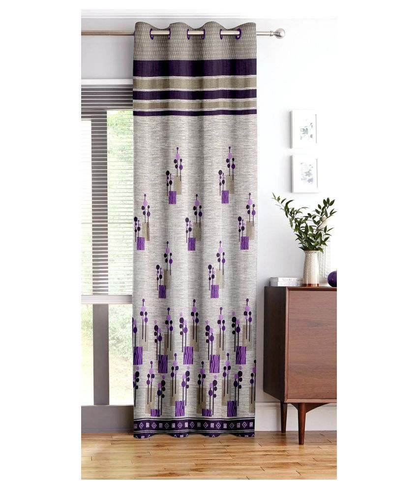 Story@Home Single Window Blackout Room Darkening Eyelet Polyester Curtains Brown