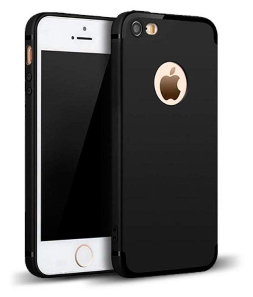 Apple iPhone 5S Plain Cases ClickAway   Black Candy Back Cover