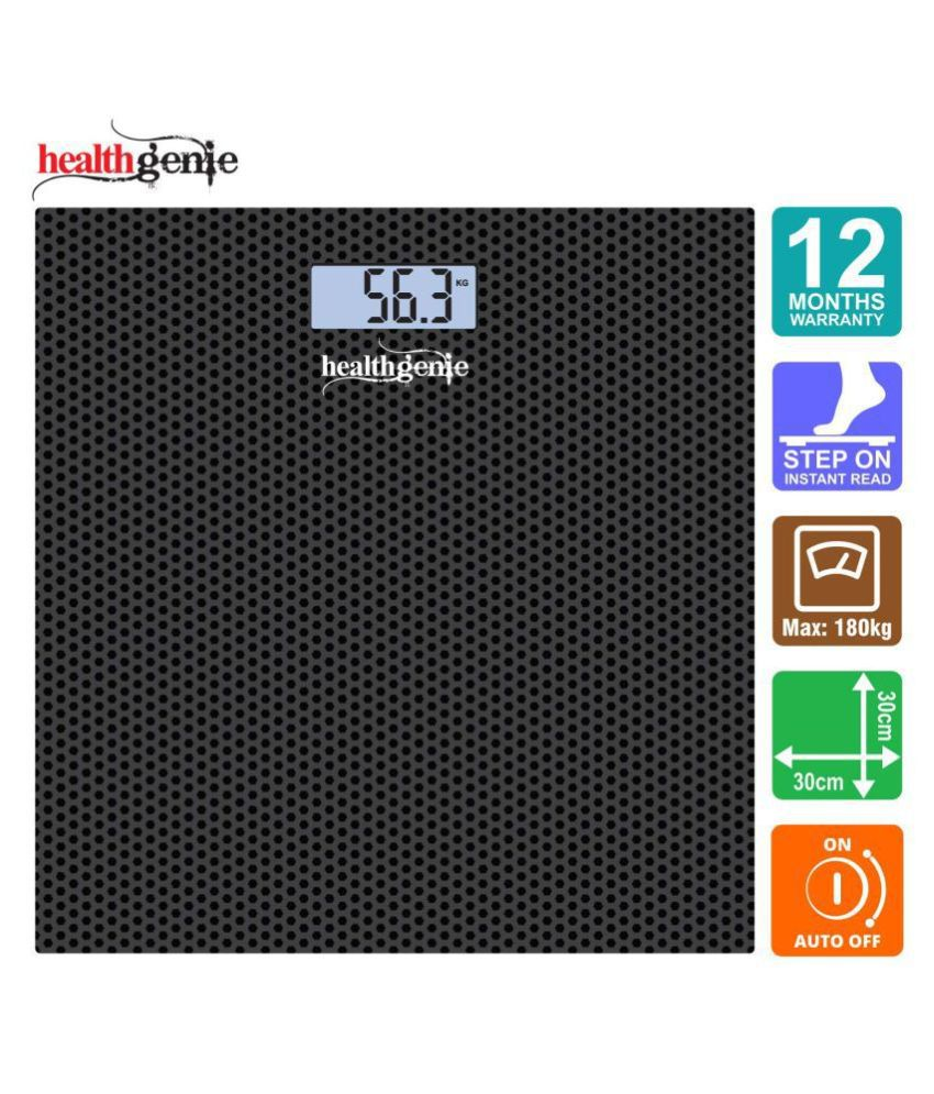 Healthgenie Digital Weighing Scale HD-221 with USB -Black Dotted