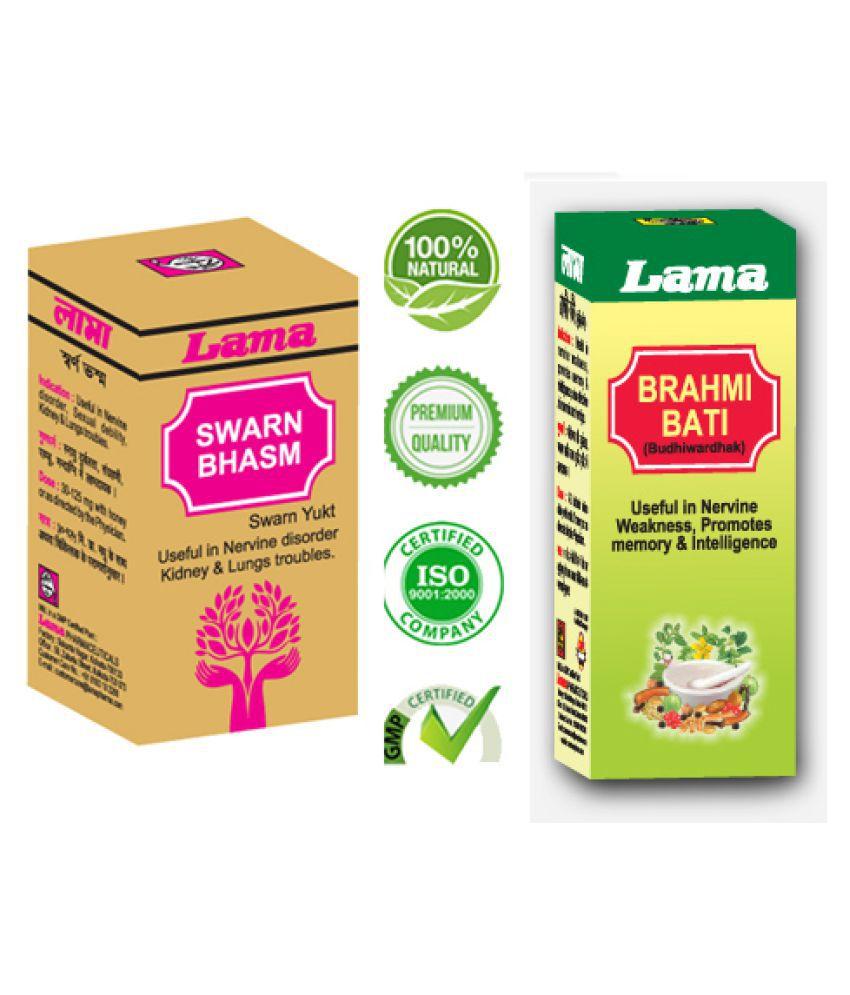 lama Lama Swarna Bhasma with Brahmi bati Powder 500 mg Pack Of 1