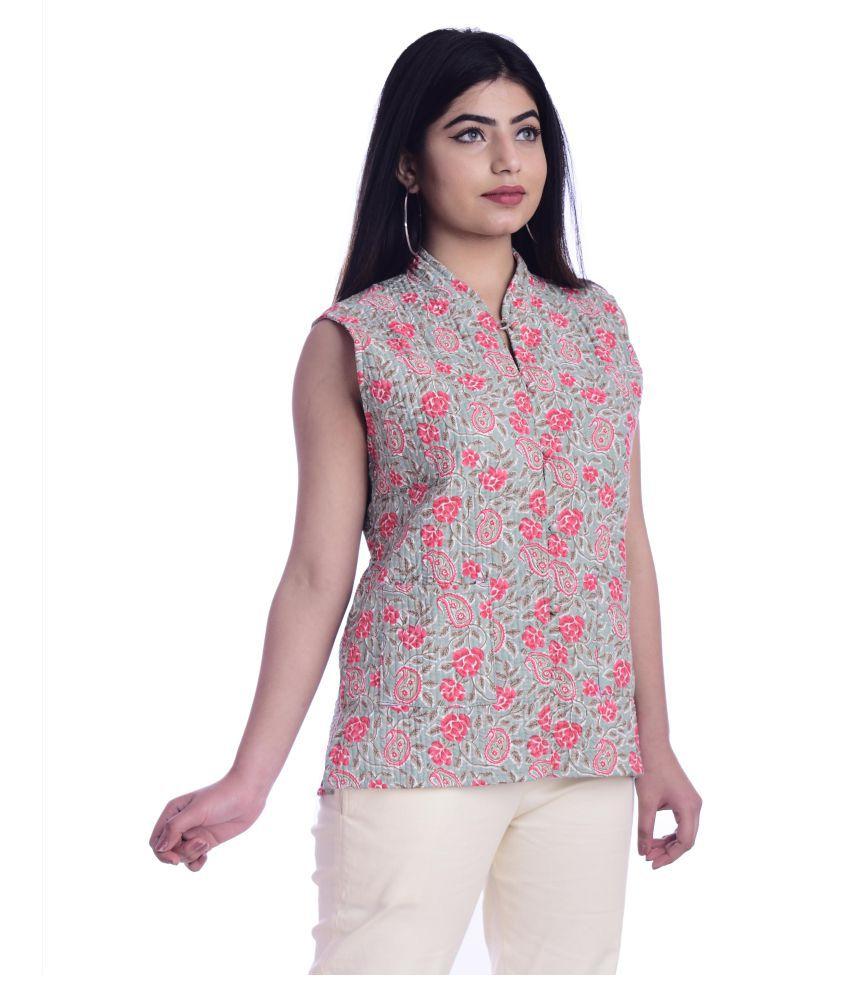 rajeraj Cotton Turquoise Ethnic Jacket