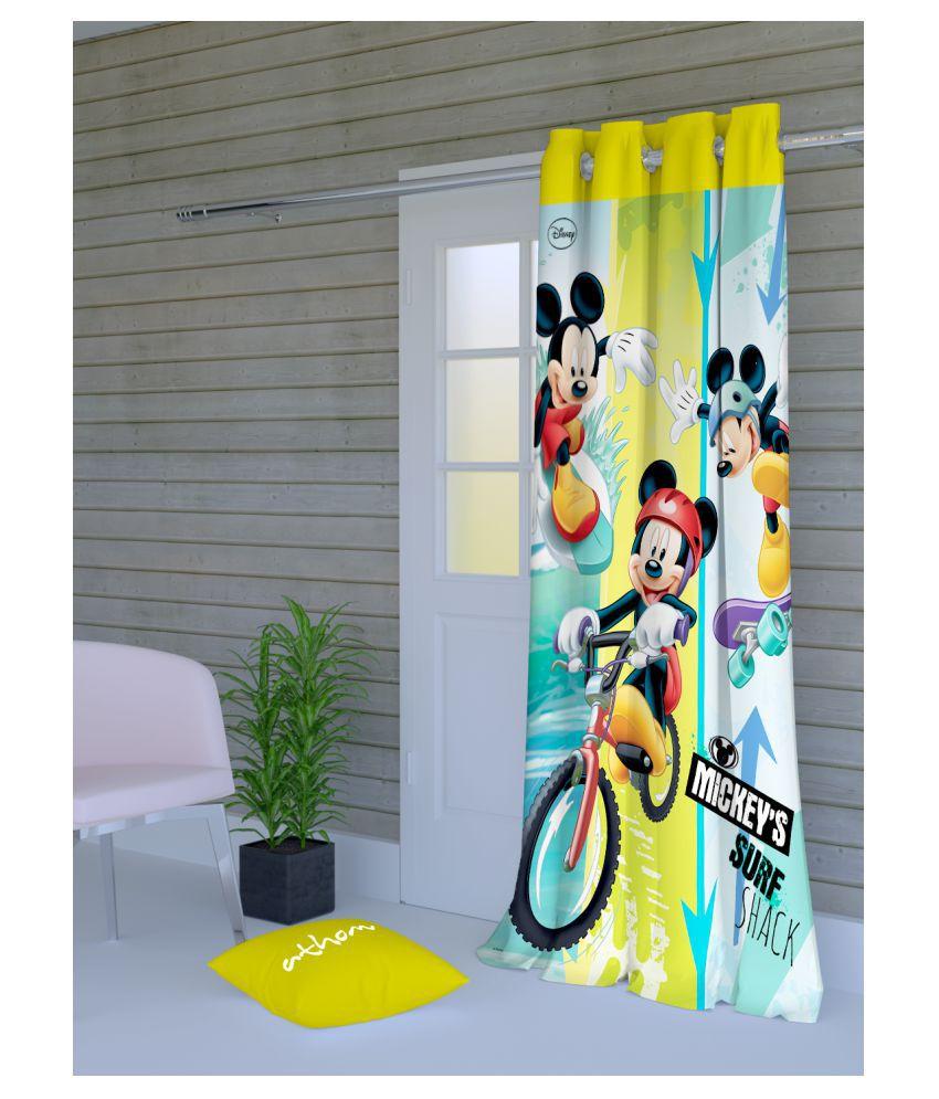 Disney Single Door Semi-Transparent Eyelet Polyester Curtains Multi Color
