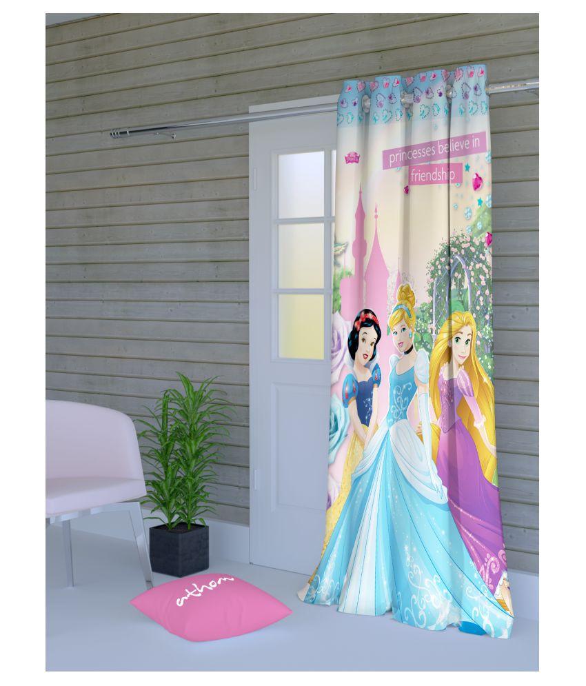 Disney Single Long Door Semi-Transparent Eyelet Polyester Curtains Multi Color