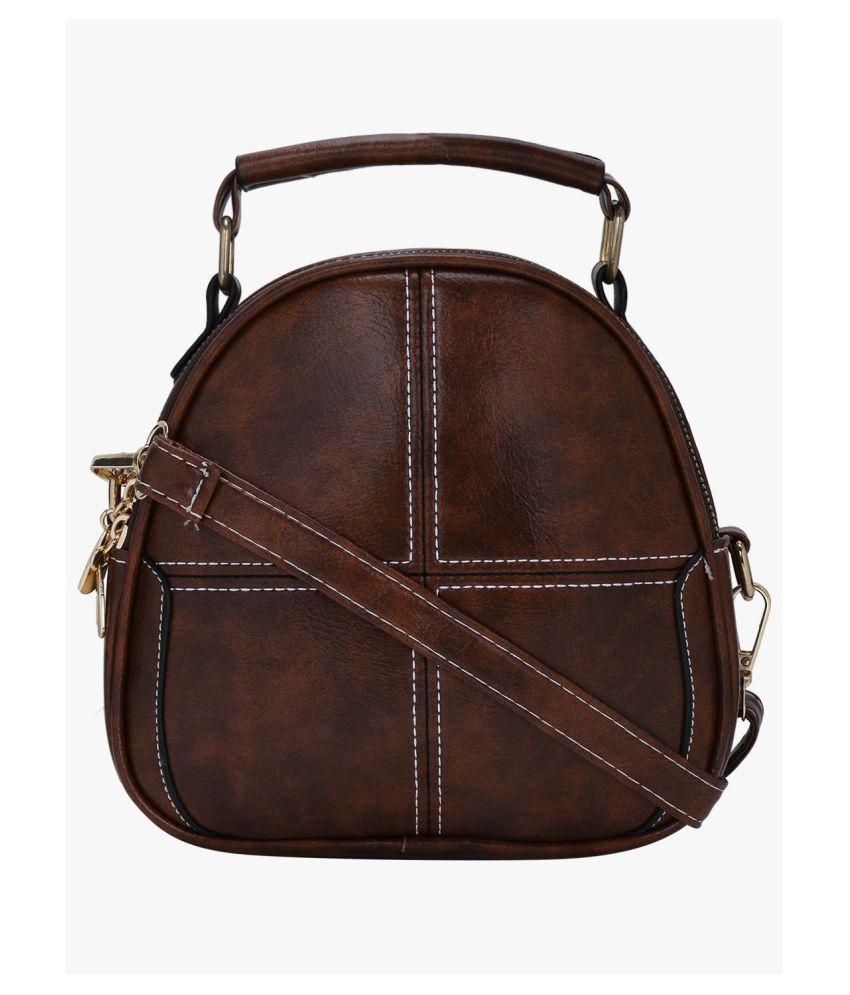 Satchel Bags Brown P.U. Sling Bag