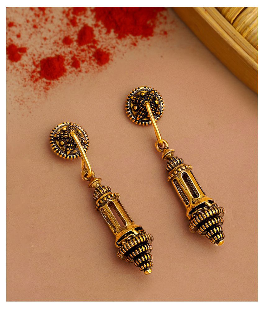 Voylla Temple of Love Hanging Lamps Earrings