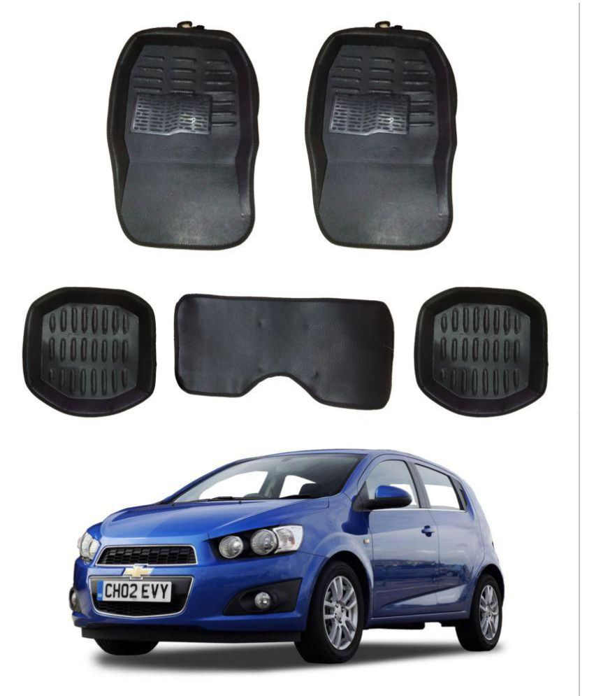 Trigcars Carpet Black Car Floor/Foot Mats for Chevrolet Aveo