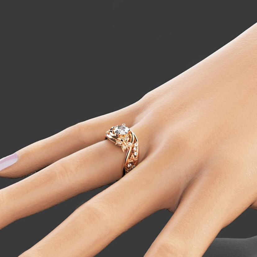 Butterfly And Flower Lady Ring Fashion Jewellery
