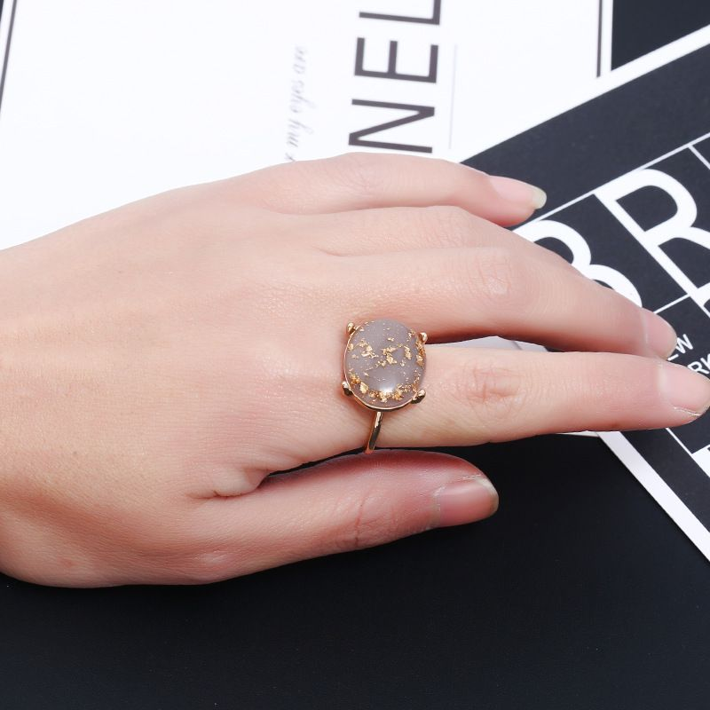 Personalized Golden Color Foil Diamond Creative Crystal Ring Fashion Jewellery