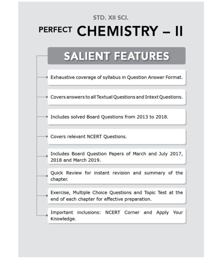 Std  12th Perfect Chemistry - 2 Notes, Science (MH Board)