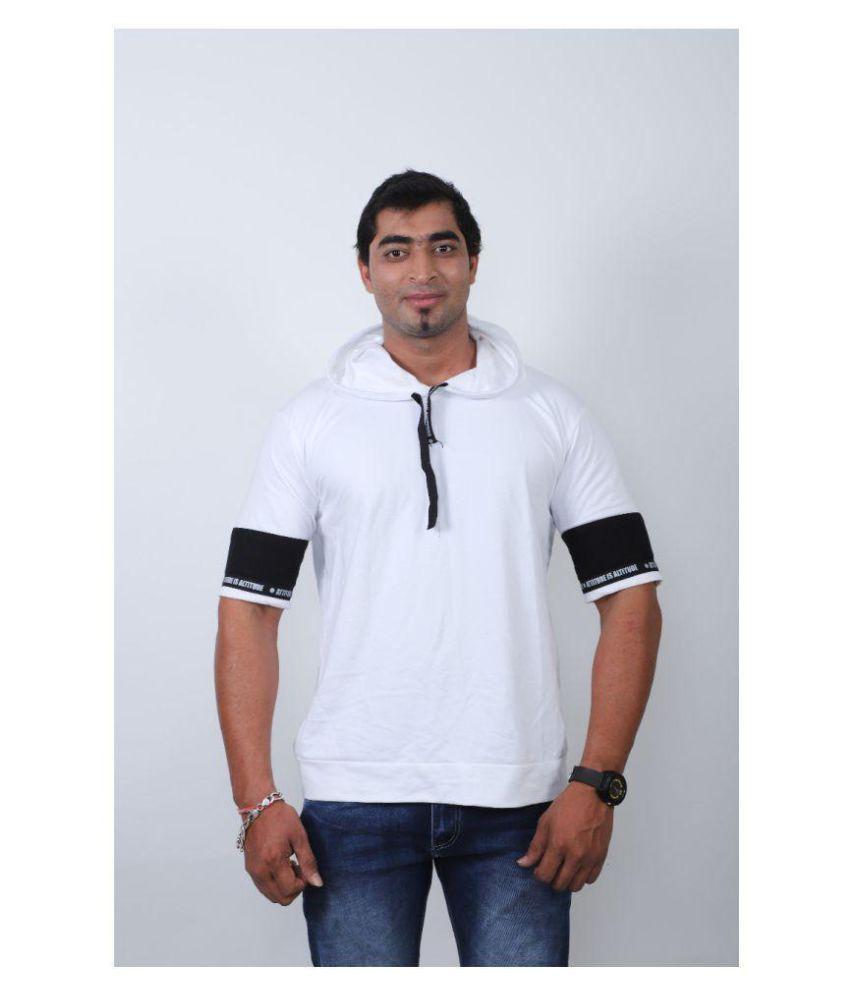 get set fashion White Full Sleeve T-Shirt