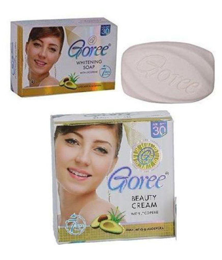 Goree Beauty Cream WITH GOREE WHITENING SOAP COMBO PACK Night Cream 80g gm