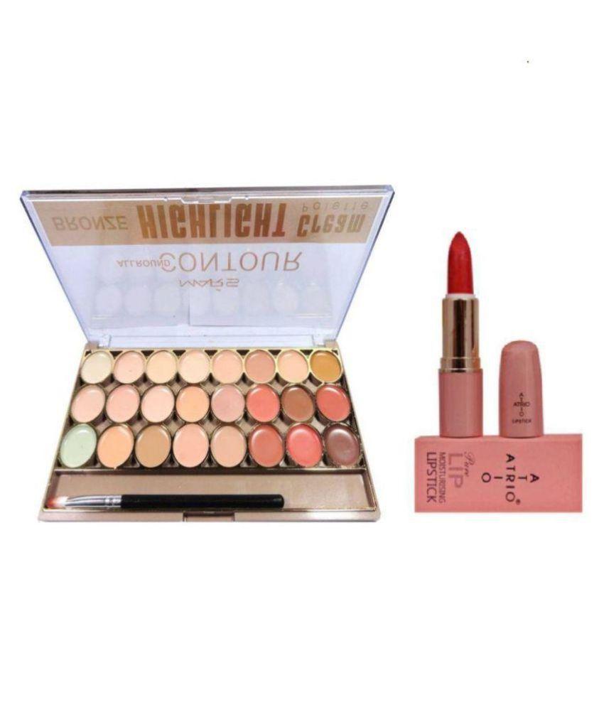Mars Bronze 24 Shades with Atrio Lipstick Contour Kit Pack of 2