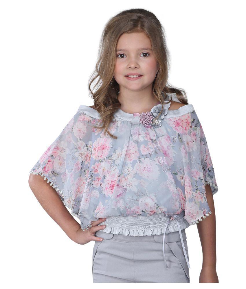 Cutecumber Girls Partywear Georgette Top - Buy Cutecumber ...