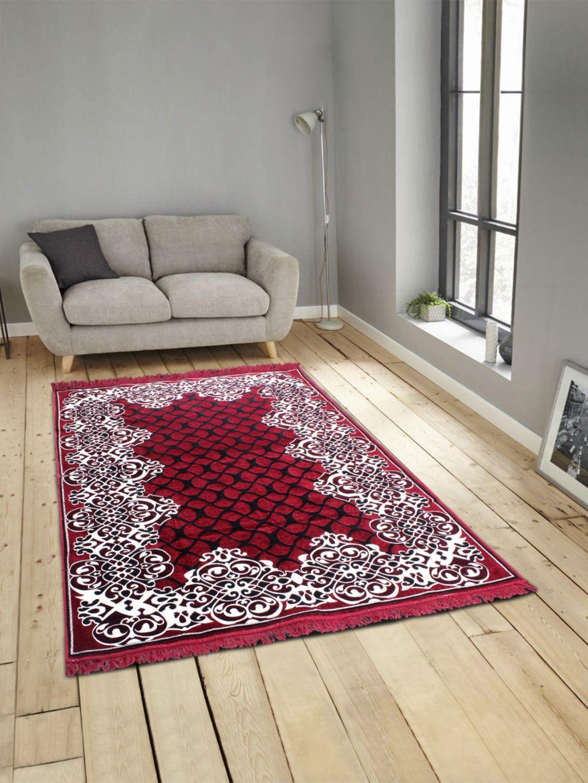 Romee Black Polyester Carpet Ethnic 3x5 Ft