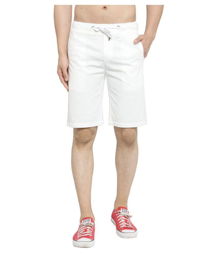 Global Republic White Shorts Single