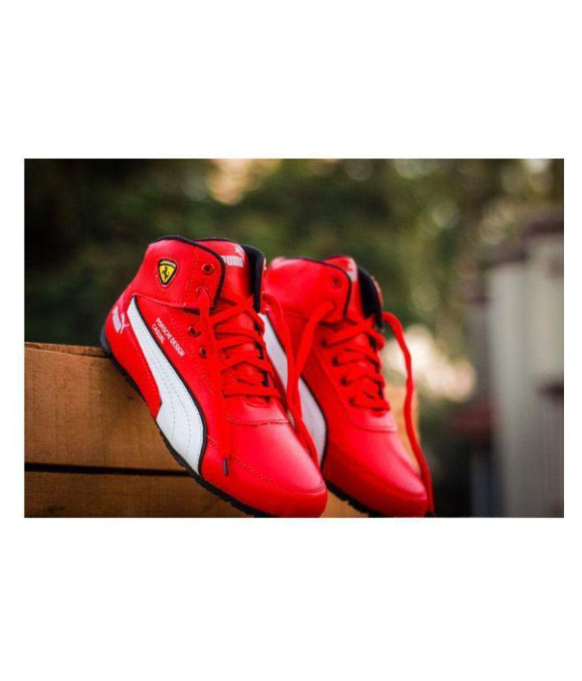Puma Sneakers Red Casual Shoes - Buy