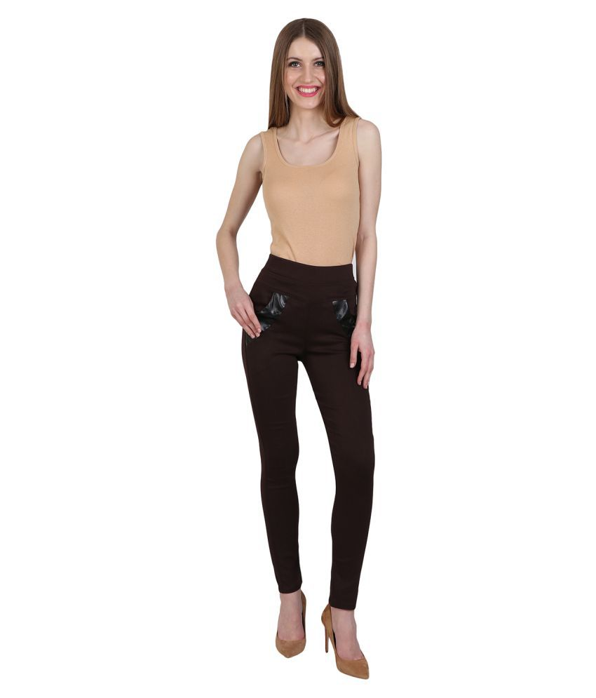 Nikvik Cotton Lycra Jeggings - Brown