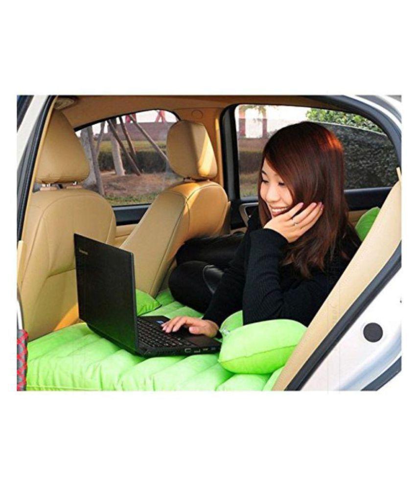 DREAMSKART Car Inflatable Bed, Self-drive Travel Inflatable Air Bed Car Air Mattress Back Seat Camping with Pump