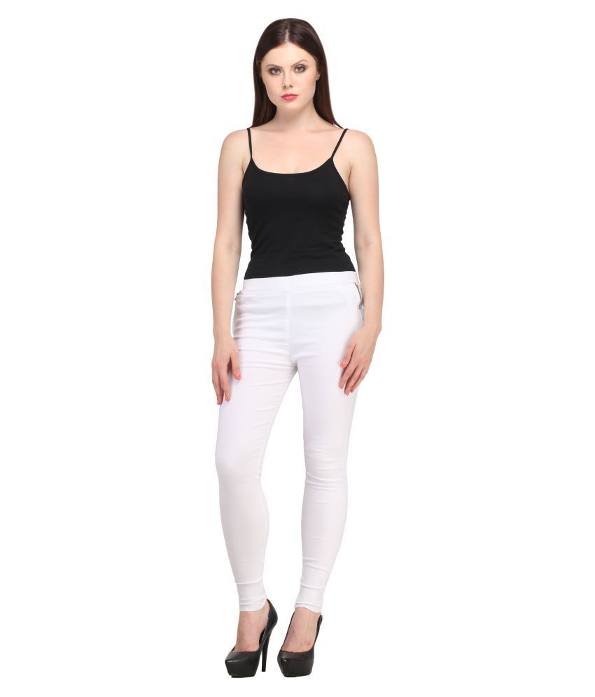 Nikvik Cotton Lycra Jeggings - White