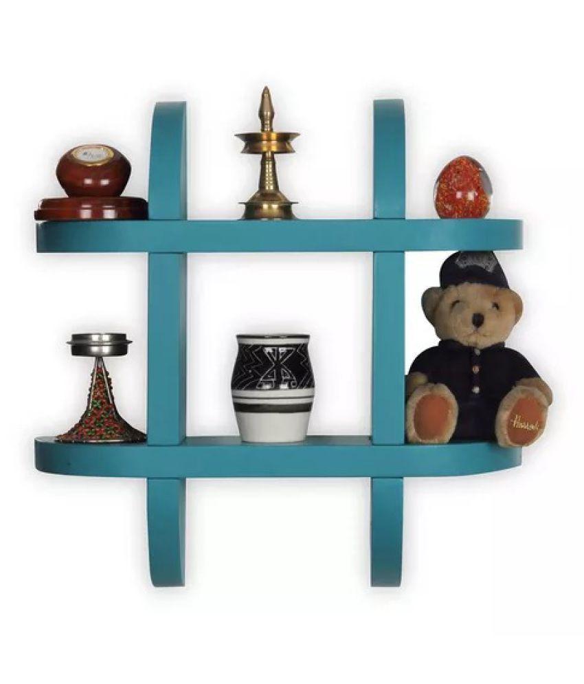 Onlineshoppee Wooden Wall Decor Wall Shelf Rack/Bracket ( Blue )