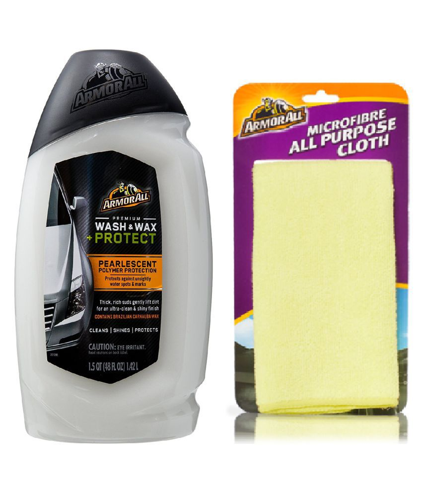 Armorall Premium Wash & Wax 1420ml with Armorall Micro Fiber Cloth 40X40
