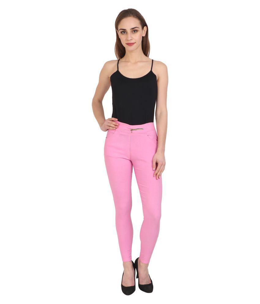Nikvik Cotton Lycra Jeggings - Pink