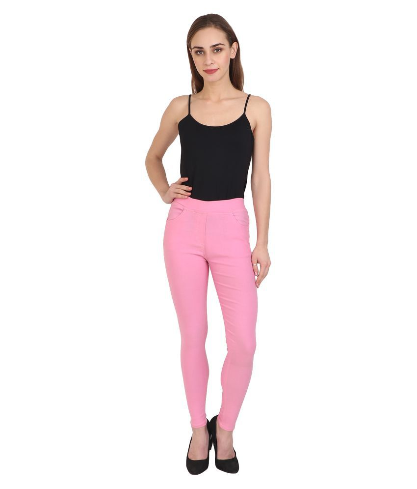 Nikvik Cotton Lycra Jeggings - Pink