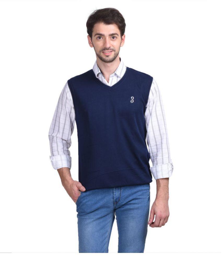 Galatea Navy V Neck Sweater