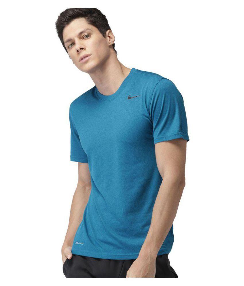 Nike Blue Half Sleeve T Shirt