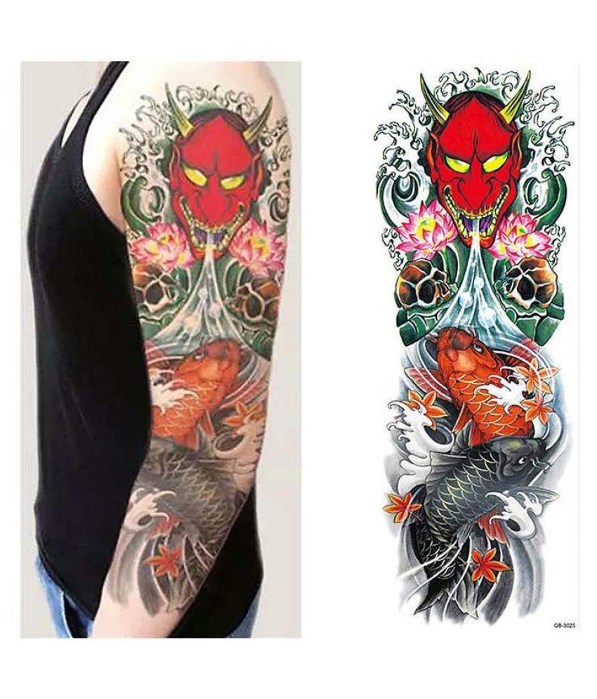 Totem Tattoo Sticker Body Art Men Women Arm Temporary Tattoos Fake Tatoo