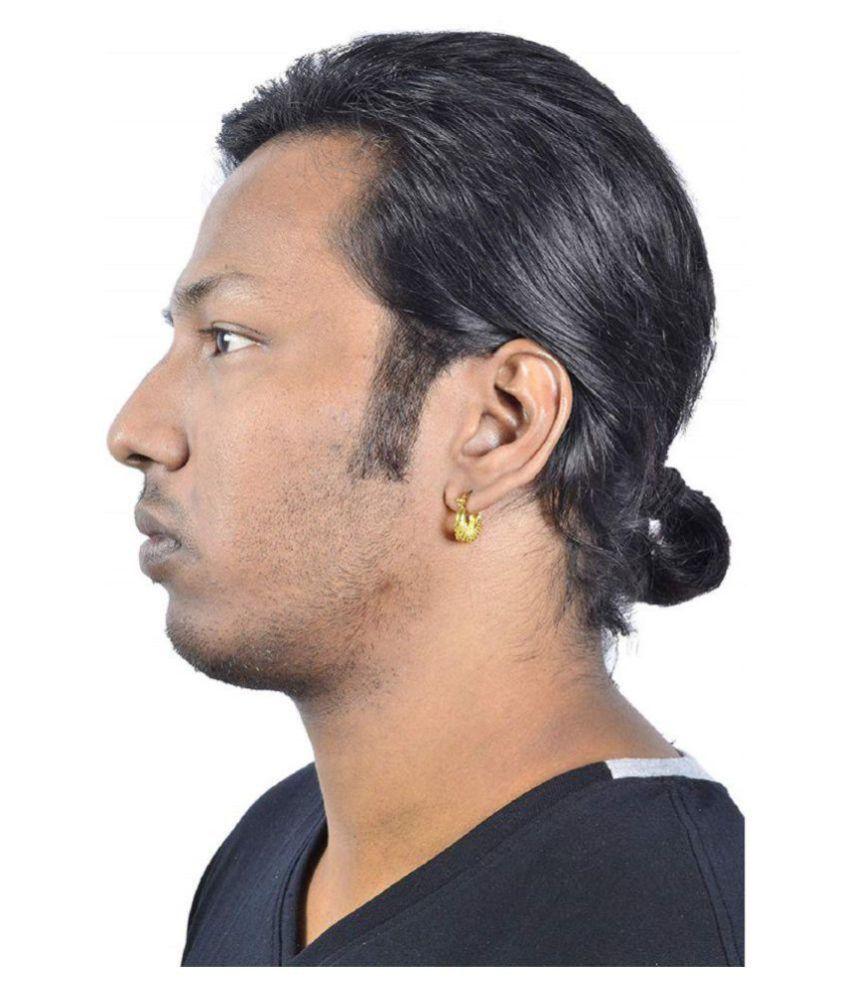 fca8cf6f847af Korean Style Thin Cambered Creole Hoop/Huggie Sleeper kaju Bali Stud  Earrings For Women