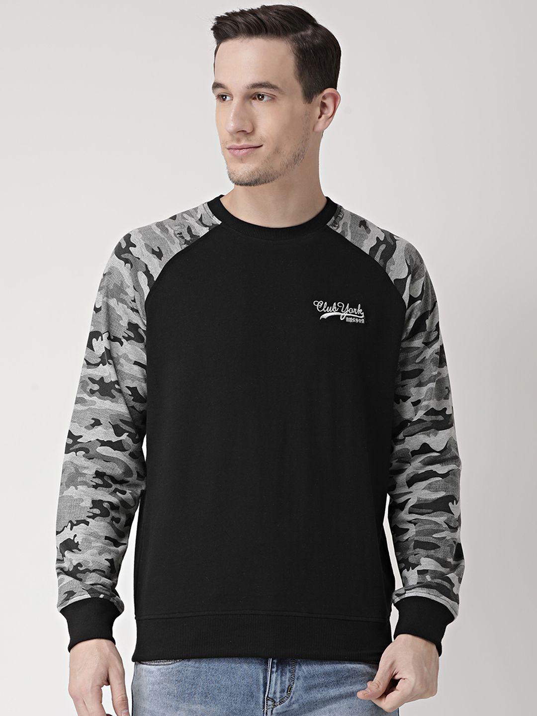 Club York Black Round Sweatshirt