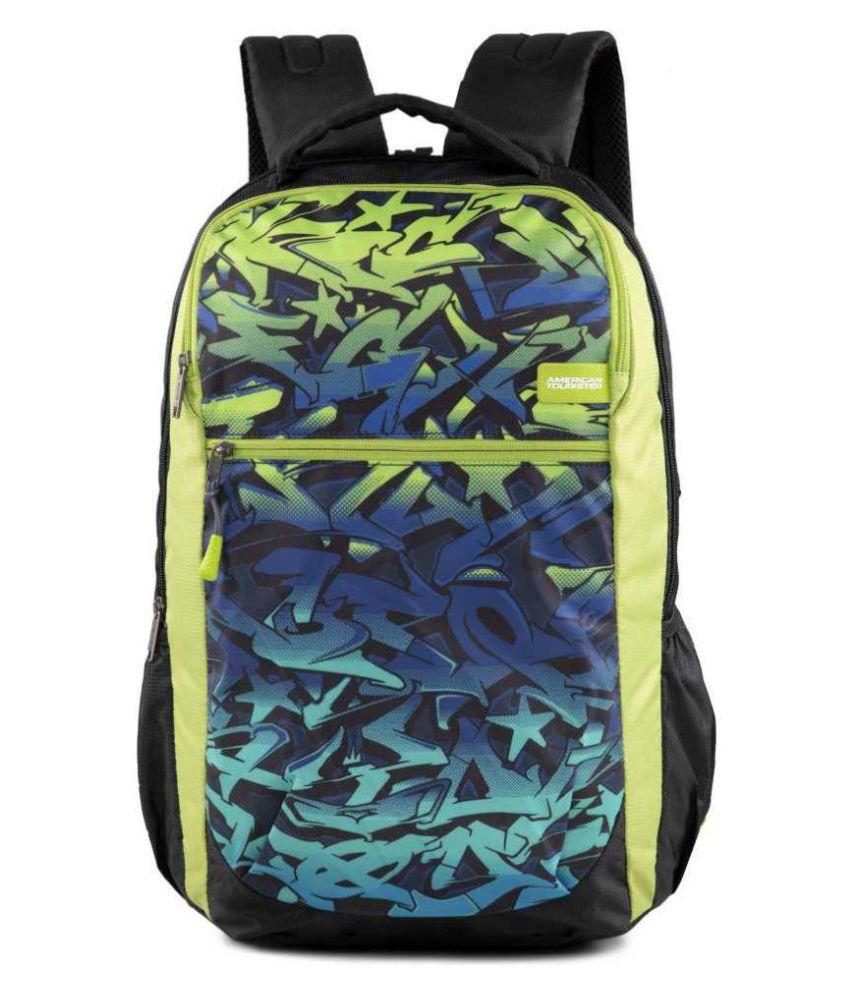 c67e541ebdff American Tourister TANGO NXT 01 BLACK LIME 35 L Backpack - Buy ...