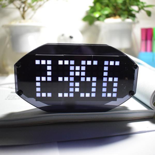 Geekcreit? DIY Black Mirror LED Matrix Desktop Alarm Clock Kit
