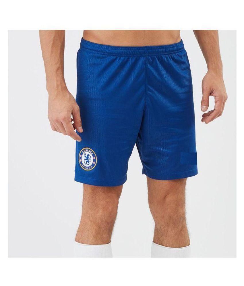 StadiumEX Blue Polyester Football Shorts Single