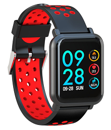 AQFIT MULTIFUNCTION W8 Waterproof Smart Watches Red