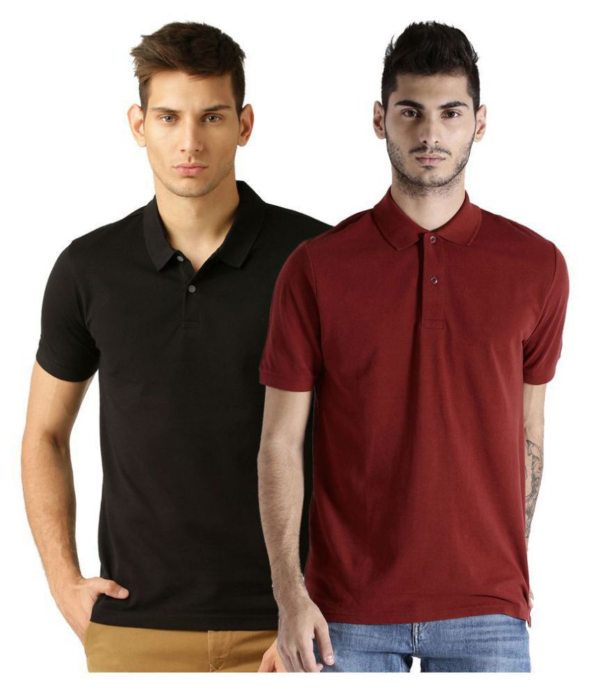 Galatea Multi Slim Fit Polo T Shirt Pack of 2