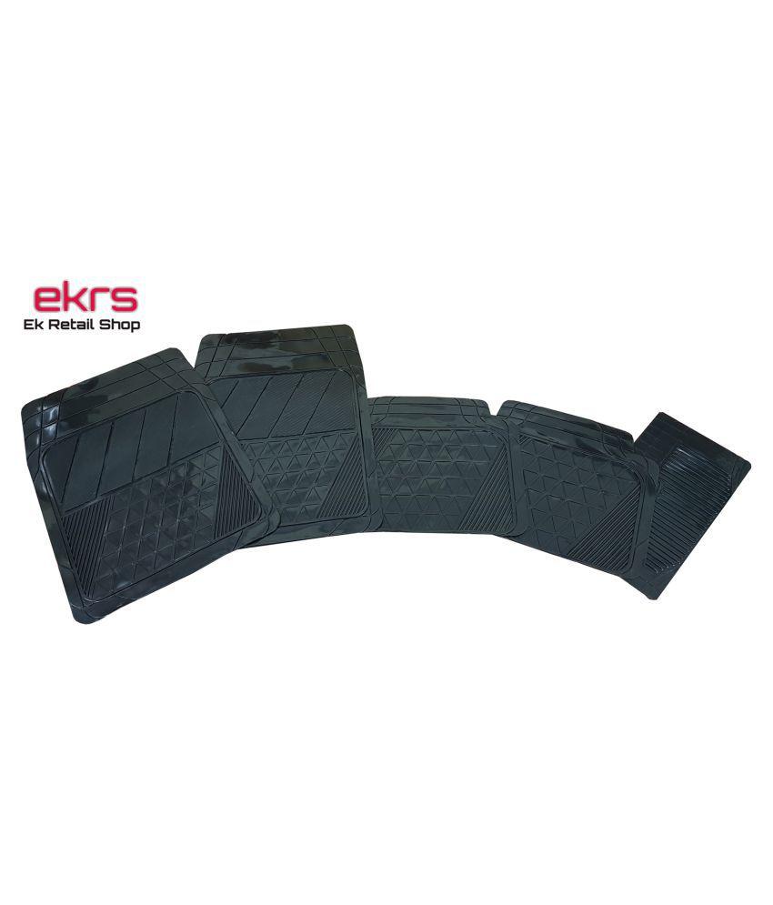 Ek Retail Shop Car Floor Mats (Black) Set of 4 for KWID 1.0 RXL AMT