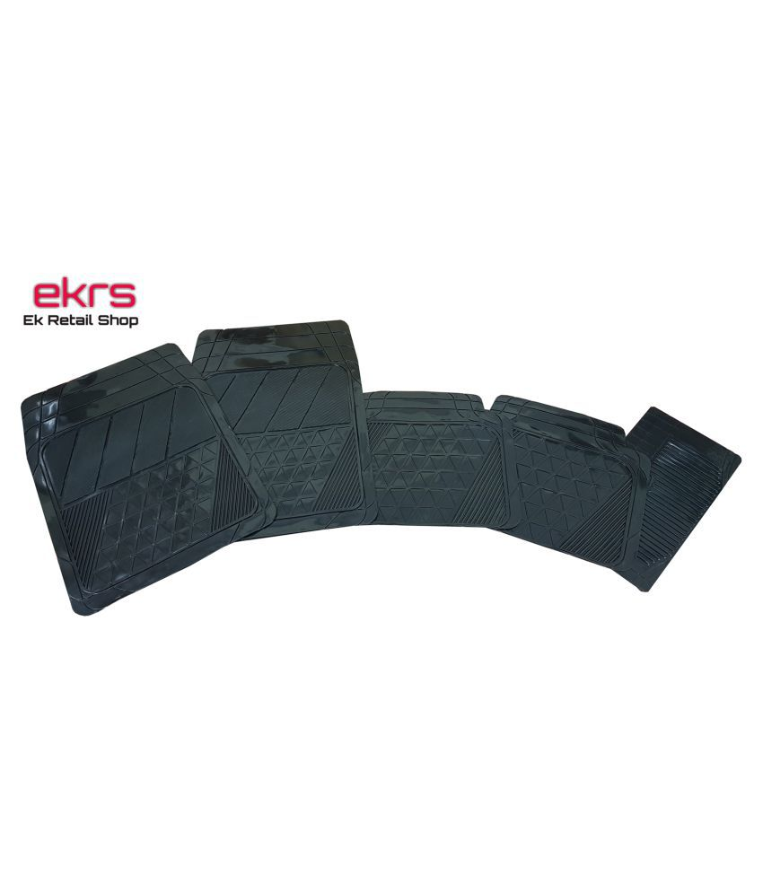 Ek Retail Shop Car Floor Mats (Black) Set of 4 for Hyundai Accent VIVA ABS