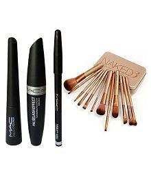 OWNSTAR Liquid Eyeliner, Mascara & Pencil Eyeliner Combo with Urban Decay Brush Set gm