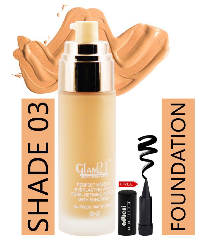 Glam21 Velvet Touch Matte-F6502-03 Liquid Foundation 03 Beige SPF 35 g