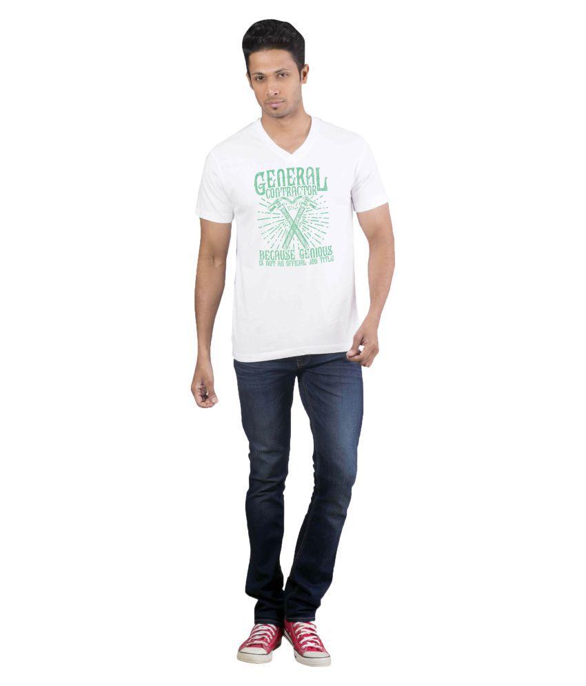 Avivee White Half Sleeve T-Shirt Pack of 1