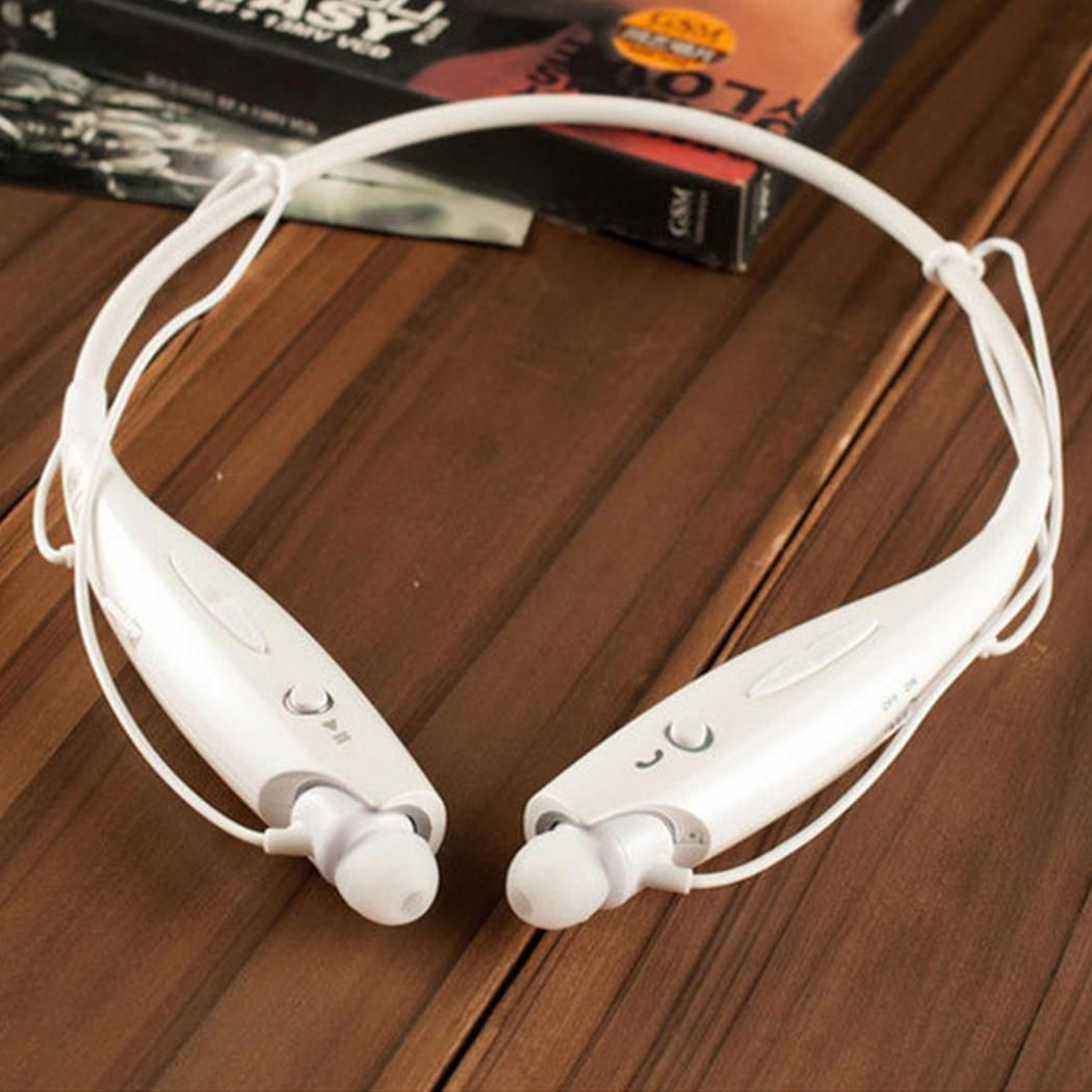 Neckband Wireless Bluetooth Headphones Stereo Bass Music Earbuds With Mic
