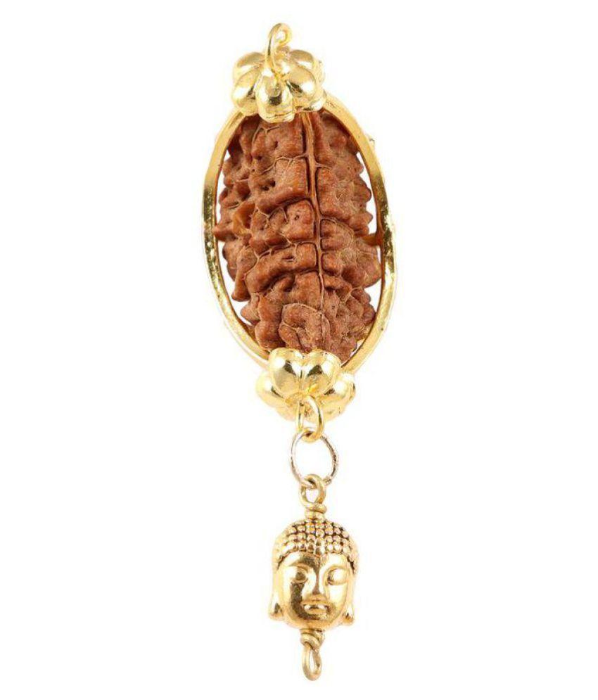 Rudra Blessings Original 1 Mukhi Rudraksha with Lucky Charm Lord Buddha pendant