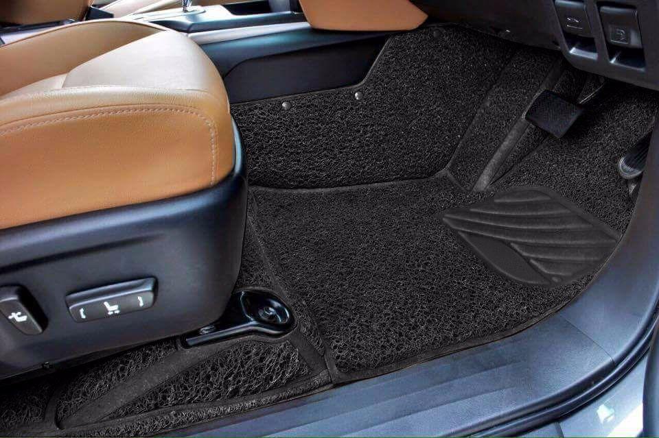 AutoFurnish 7D Curly Car Floor Mats For Volkswagen Passat - Black - Set of 3 Mats